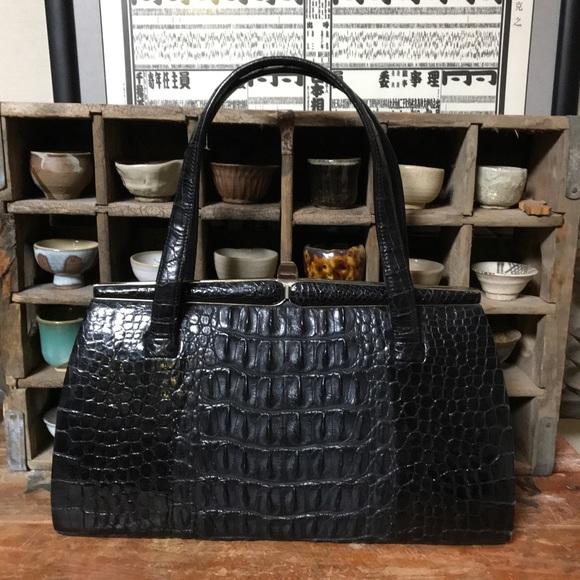 072db604d1 Bags | Vintage Black Crocodile Alligator Purse | Poshmark